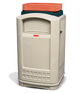View: Rubbermaid 3963 Plaza Container w/Tray Top (50 Gal)
